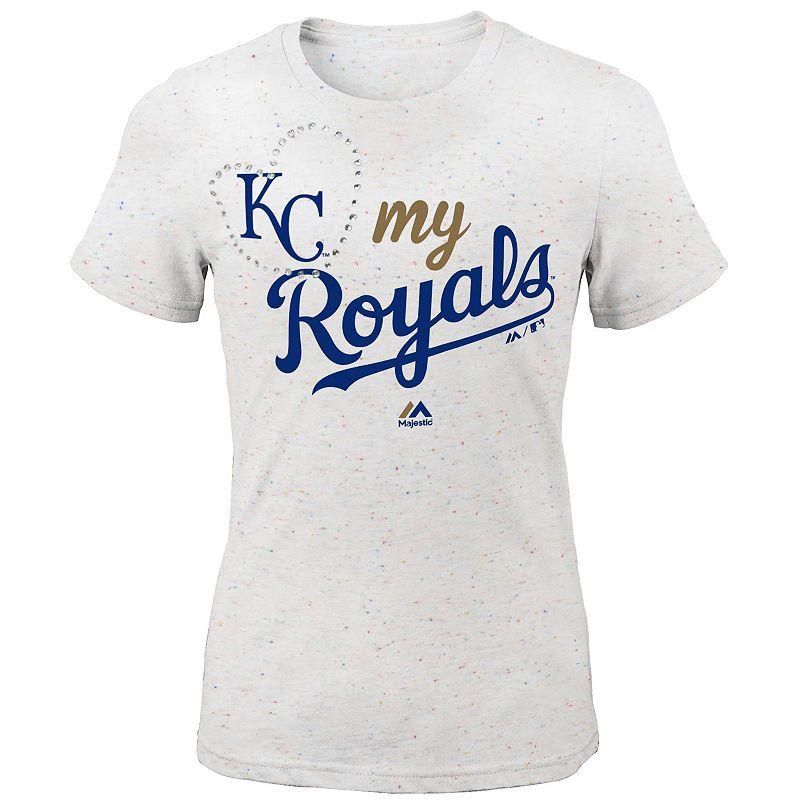 Girls 7-16 Majestic Kansas City Royals My Heart Tee