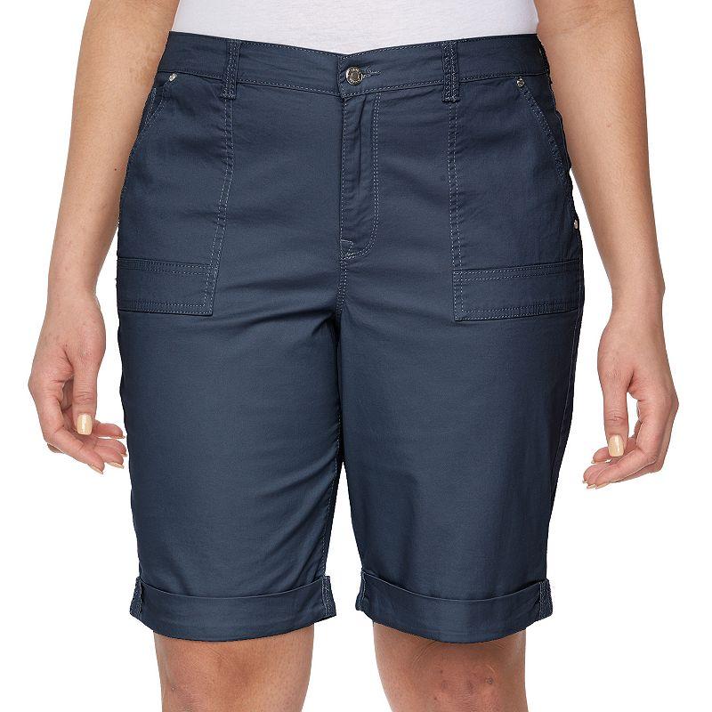 Plus Size Gloria Vanderbilt Cuffed Bermuda Shorts