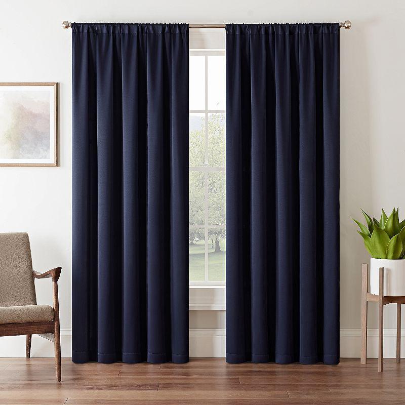 Dark Blue Blackout Curtain