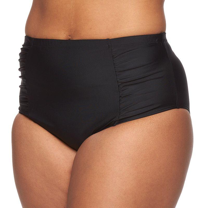 Plus Size Costa Del Sol High-Waisted Brief Bikini Bottoms