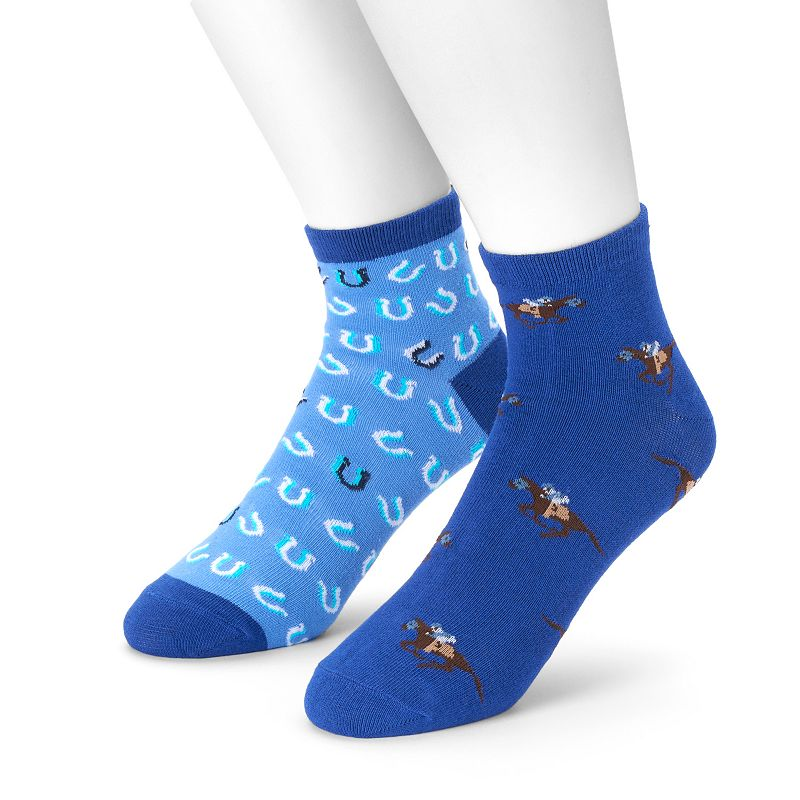 Men's 2-pack Horse Racing Quarter Socks