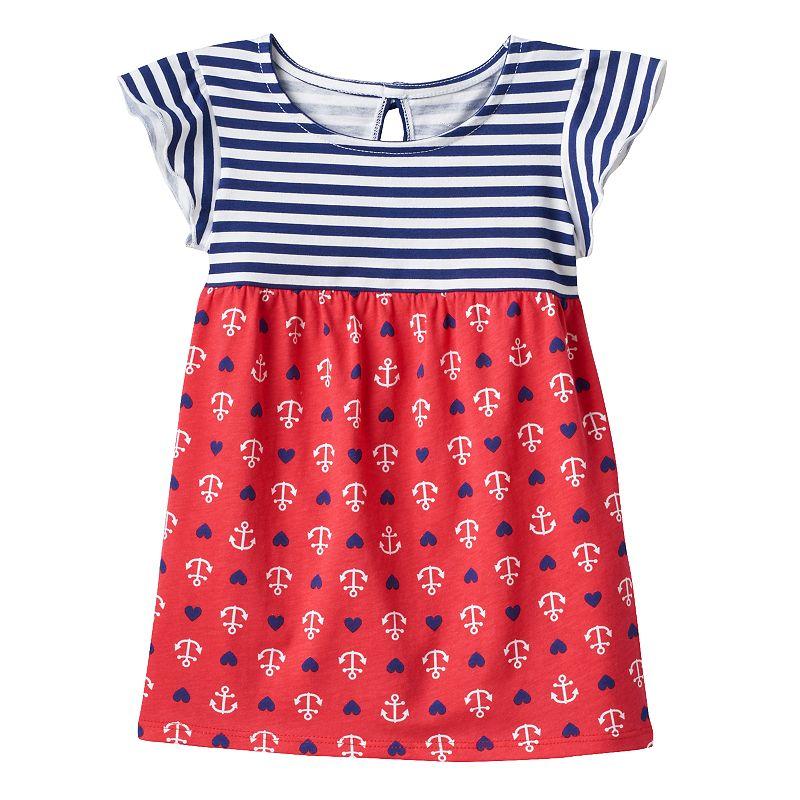 Toddler Girl Jumping Beans® Flutter Mix-Print Tunic