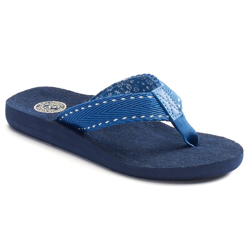 SO® Women's Woven Thong Flip-Flops