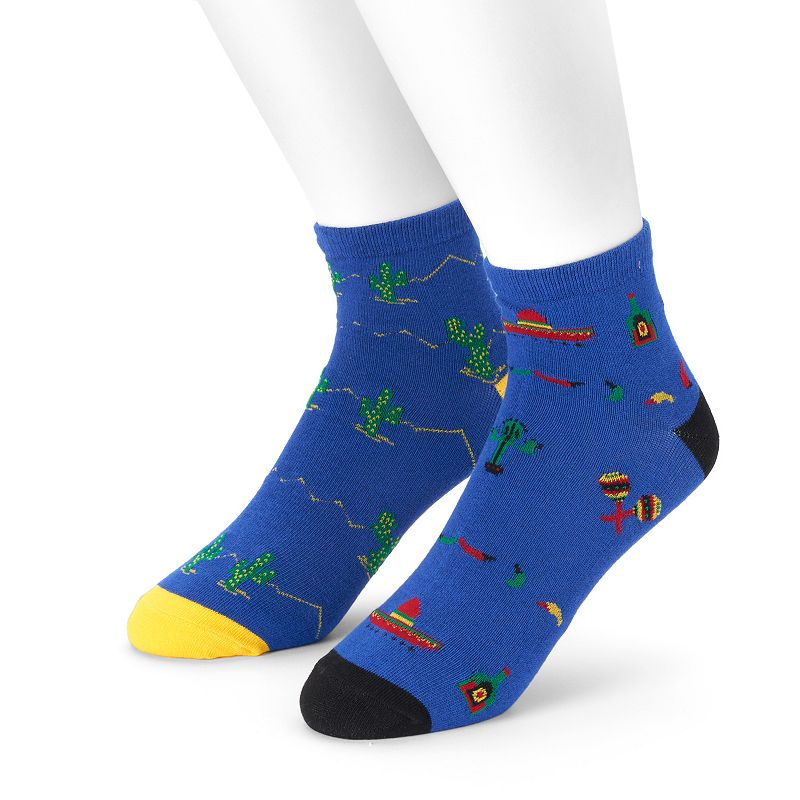 Men's 2-pack Cactus & Southwestern Quarter Socks