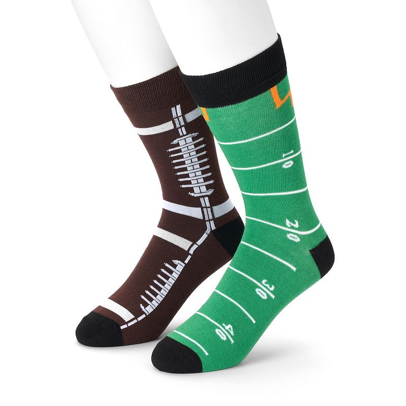 Men's 2-Pack Football Crew Socks