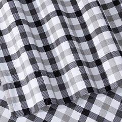 Micro Plaid Printed Flannel Sheet Set by