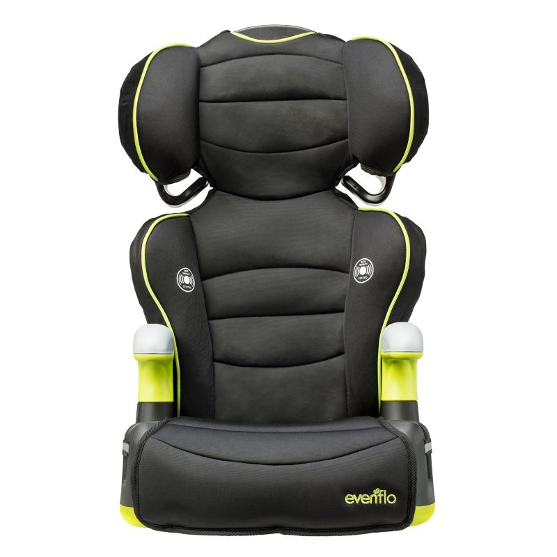 Evenflo Big Kid Amp Naperville 2-in-1 High-Back Booster Car Seat, Black