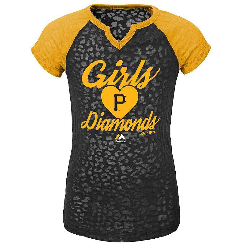 Girls 4-6x Majestic Pittsburgh Pirates Diamonds Tee