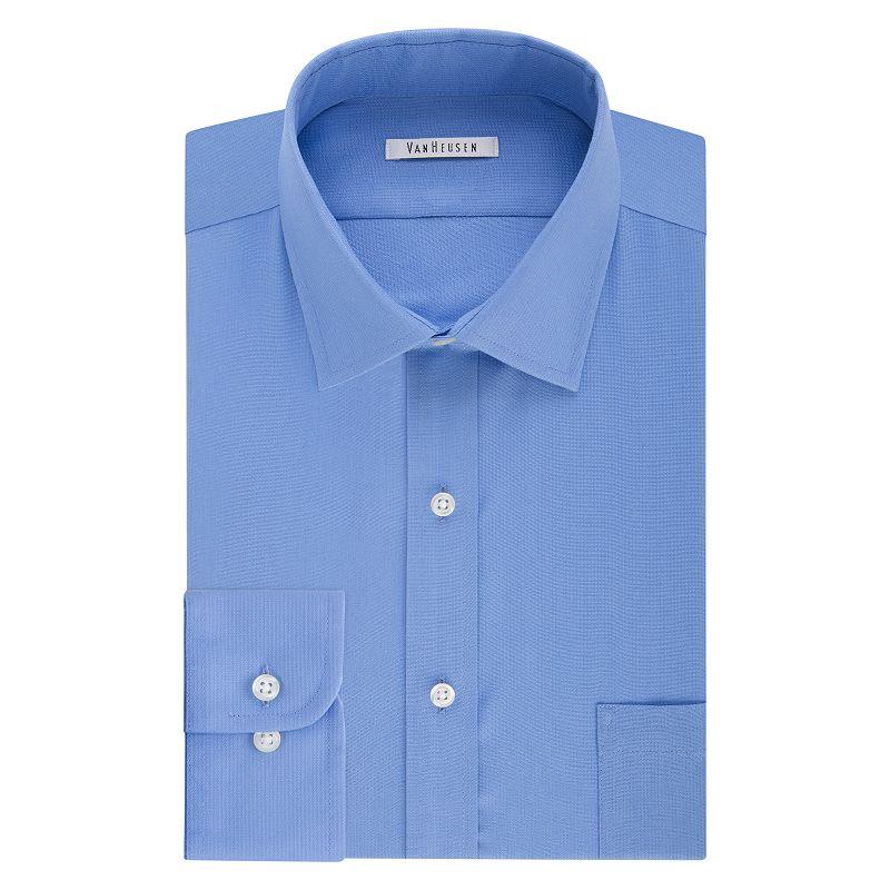 Blue expandable shirt kohl 39 s for Van heusen men s regular fit pincord dress shirt