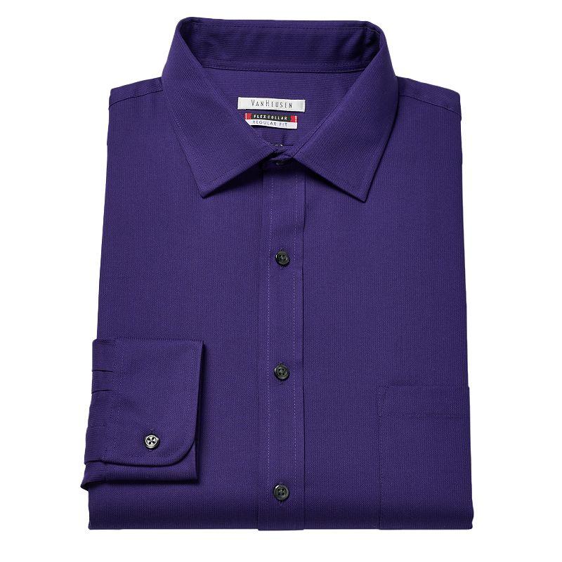 Men 39 s van heusen flex collar regular fit pincord dress for Van heusen shirts flex collar