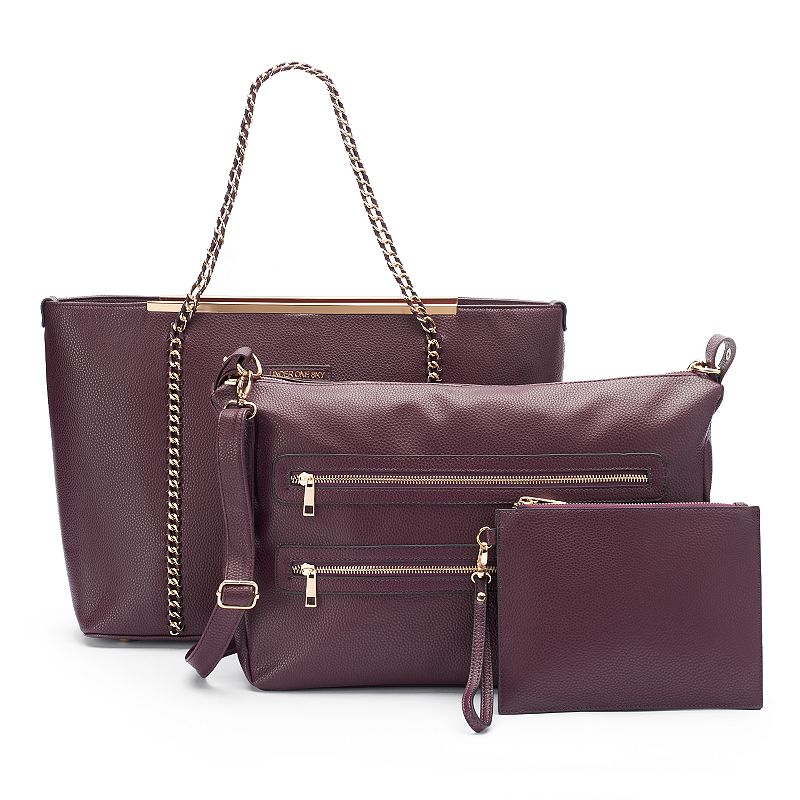 Under One Sky Curb-Chain 3-in-1 Satchel