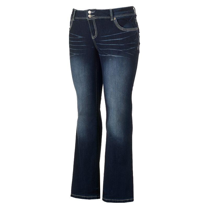 Juniors' Plus Size Amethyst Dark Wash Jeans