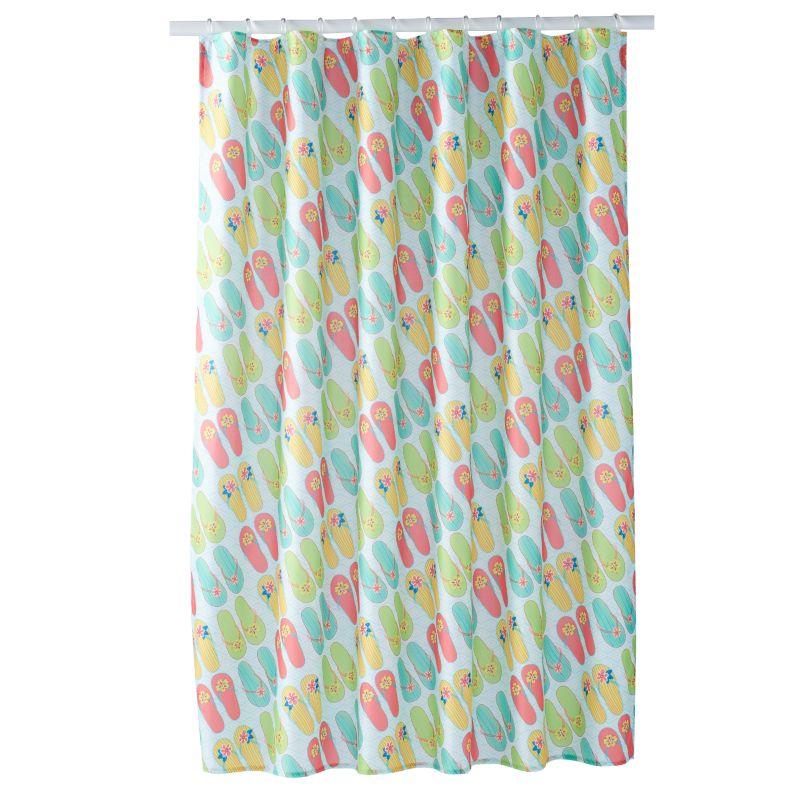 Celebrate Summer Together Flip Flop Shower Curtain