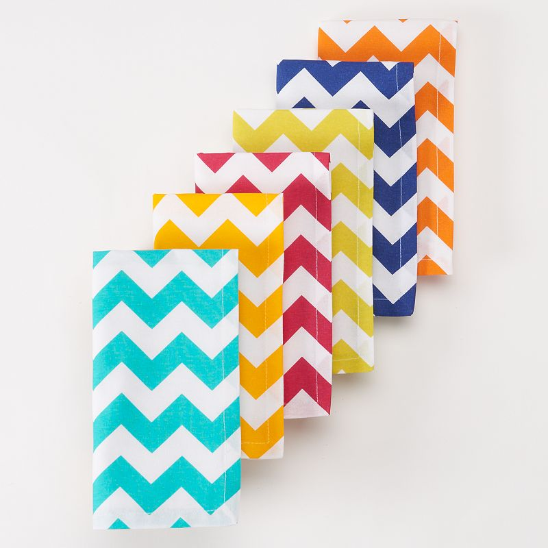Celebrate Summer Together Chevron Napkins - 6 pk.