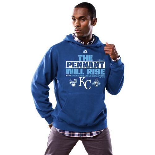 Big & Tall Majestic Kansas City Royals 2015 American League Champions Locker Room Hoodie