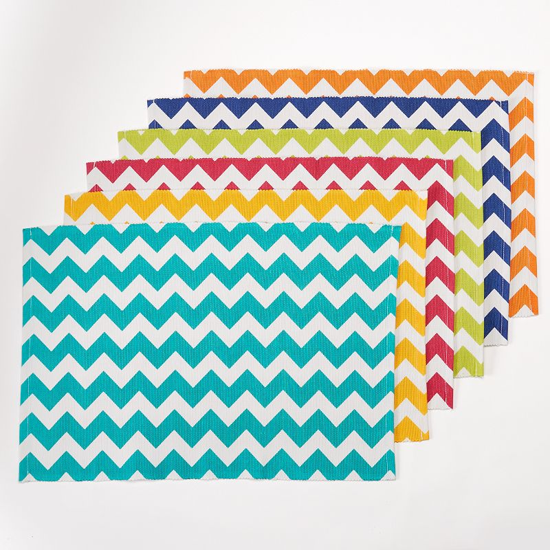 Celebrate Summer Together Chevron Placemats - 6 pk.