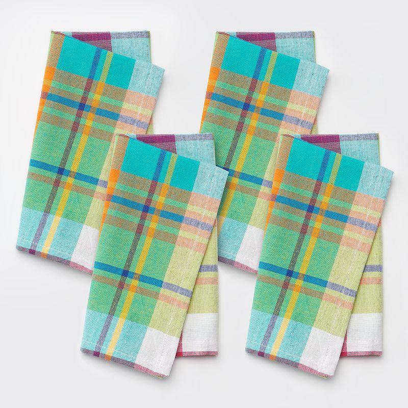 Celebrate Summer Together 4-pc. Plaid Napkin Set