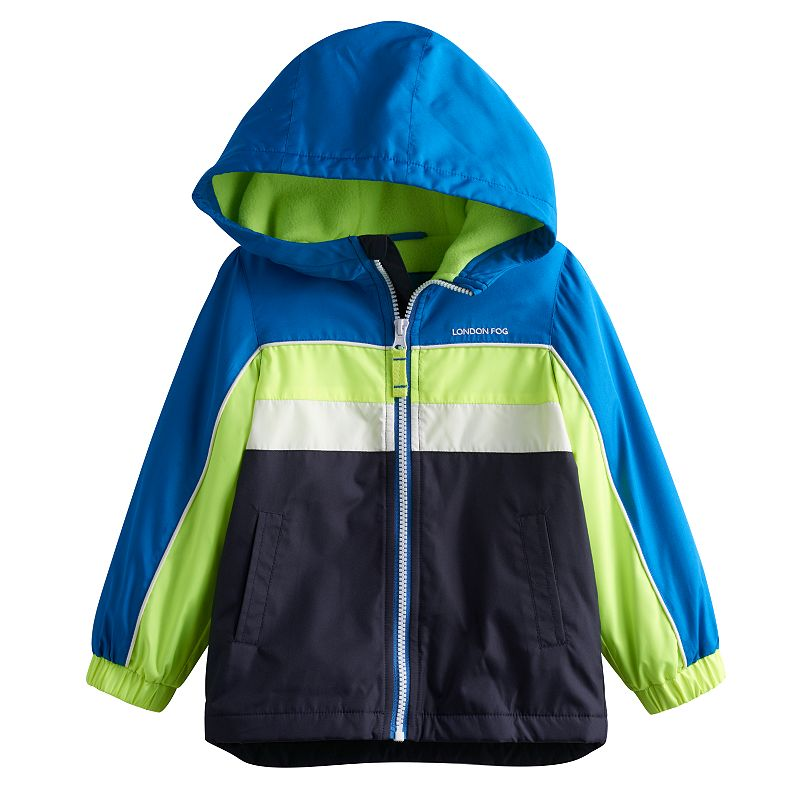 Boys 4-7 London Fog Colorblocked Fleece-Lined Hooded Jacket