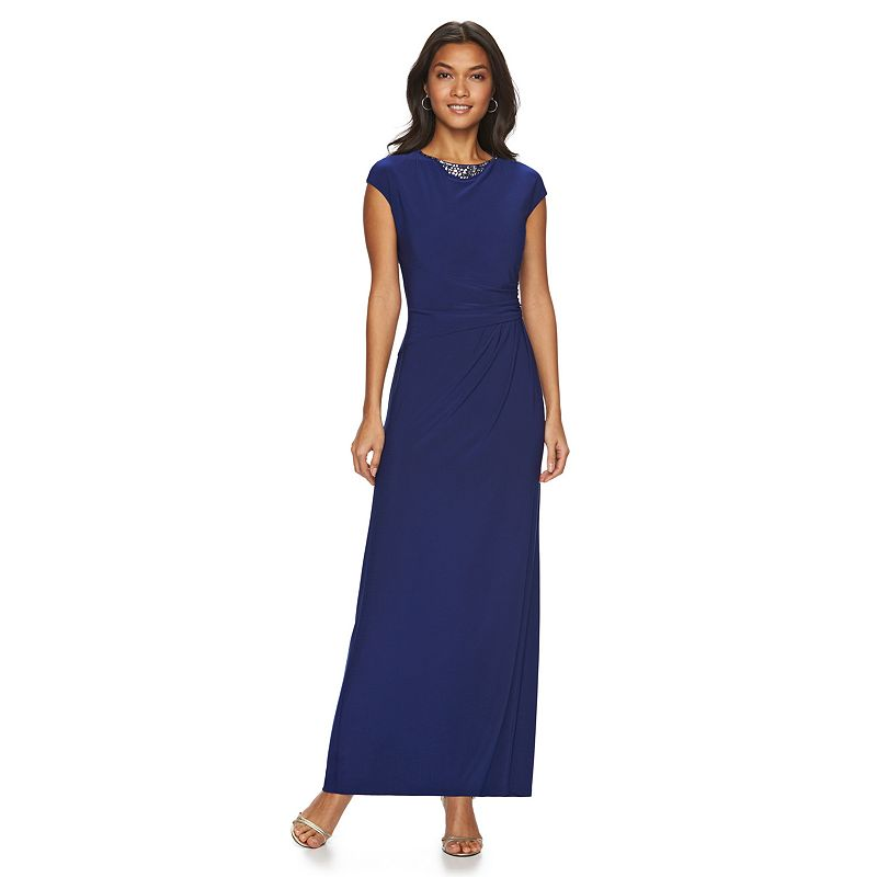 Women's Chaps Embellished Sheath Evening Gown