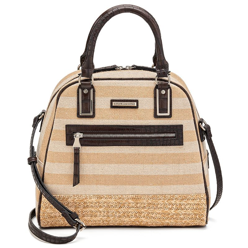 Dana Buchman Striped Convertible Dome Satchel