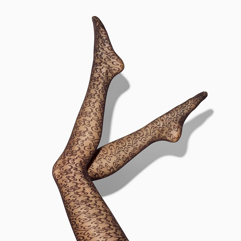 Women's Simply Vera Vera Wang Scroll Mesh Tights