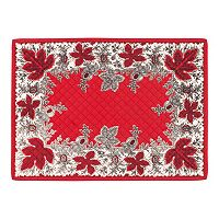 KAF HOME Botanique Holiday Quilted 4-pc. Placemat Set