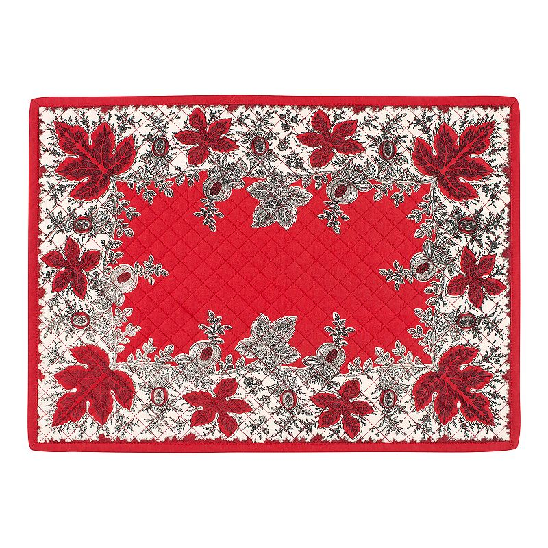 Botanique Holiday Quilted 4-pc. Placemat Set