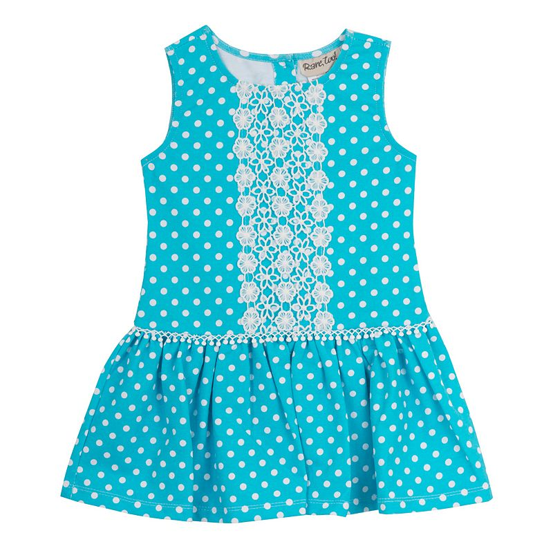Toddler Girl Rare Editions Crochet Lace Polka-Dot Dress