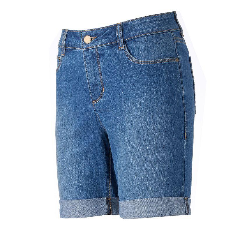 Women's Croft & Barrow® Cuffed Jean Shorts