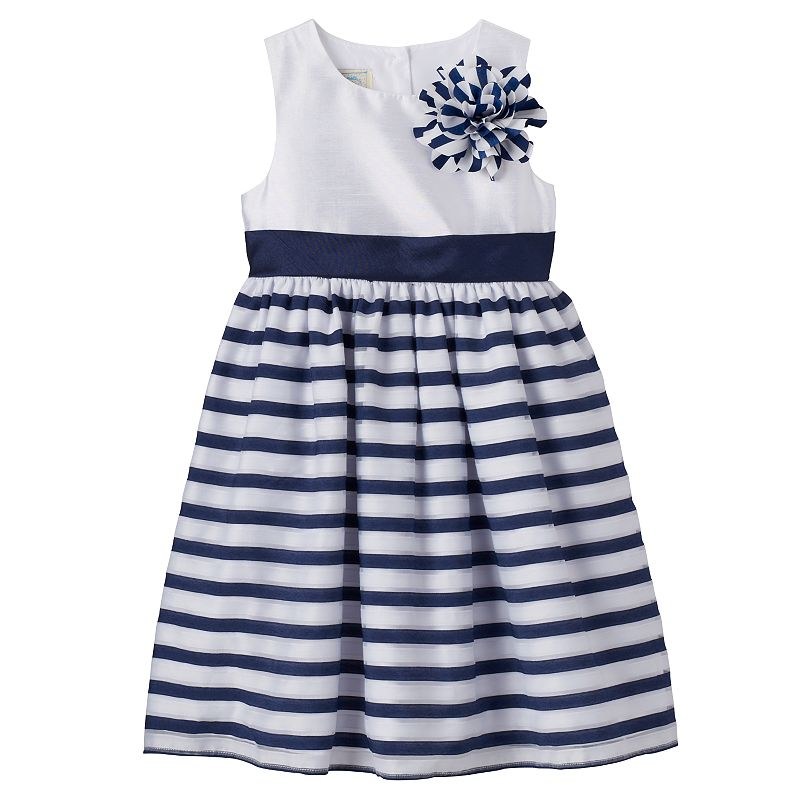Girls 4-6x Marmellata Classics Rosette Striped Dress