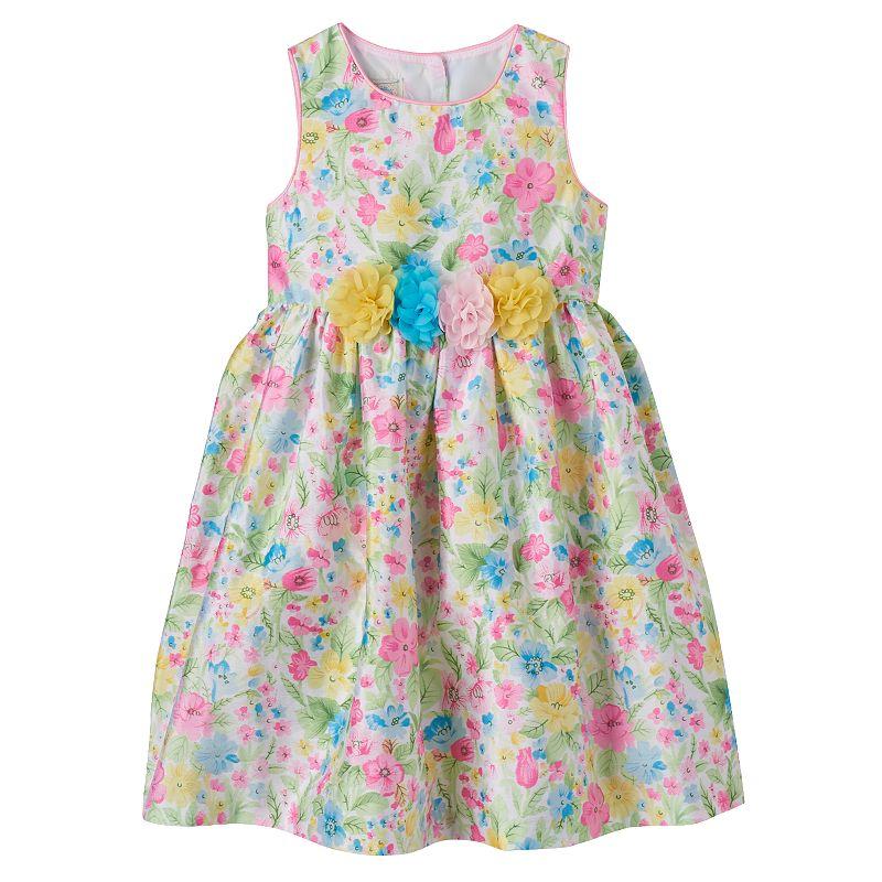 Girls 4-6x Marmellata Classics Floral Shantung Dress