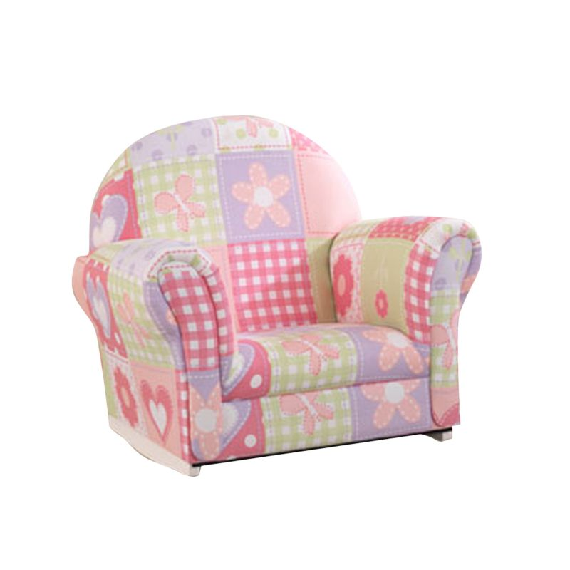 KidKraft Upholstered Dollhouse Cottage Rocker & Slipcover, Pink