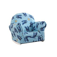 KidKraft Upholstered Airplane Rocker & Slipcover by