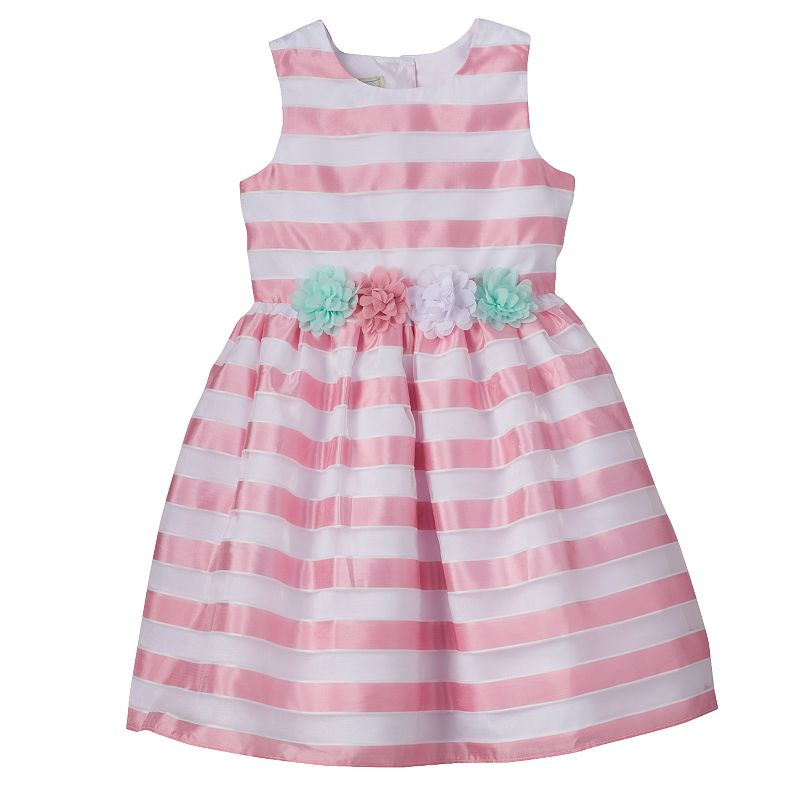 Girls 4-6x Marmellata Classics Burnout Stripe Organza Dress