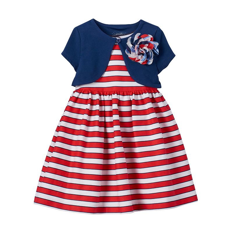 Toddler Girl Marmellata Classics Striped Dress & Shrug Set