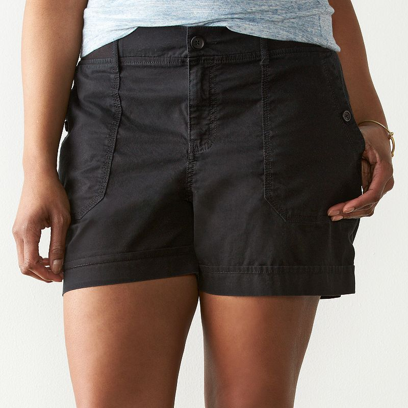 Plus Size SONOMA Goods for Life™ Canyon Twill Shorts