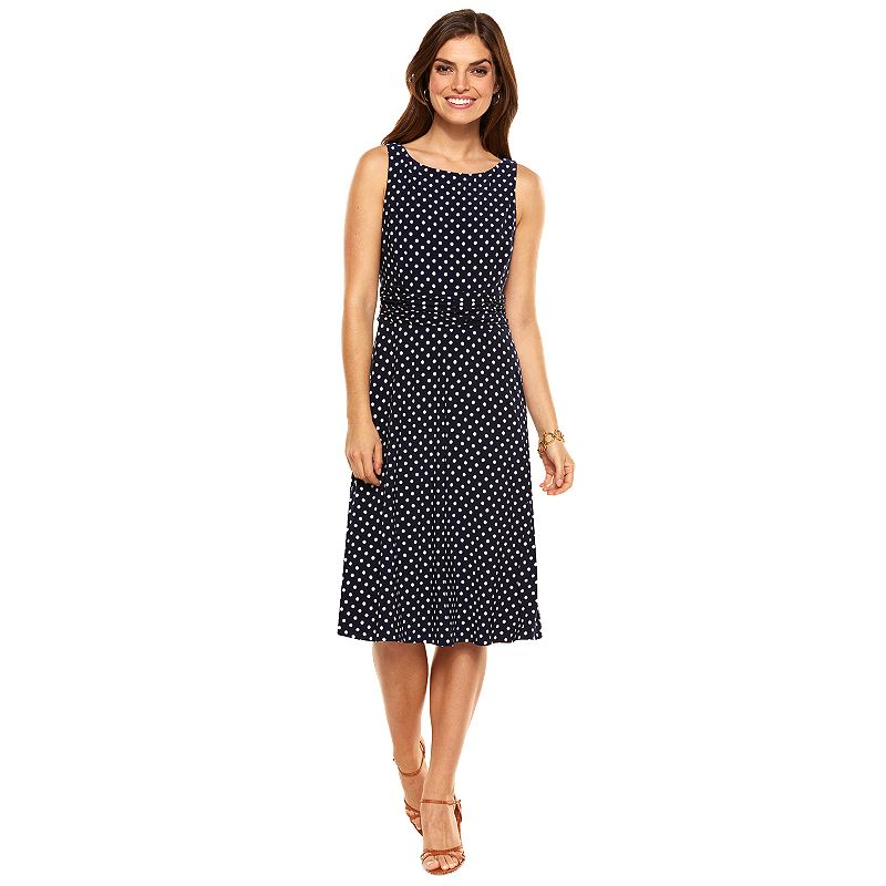 Petite Chaps Ruched Dress