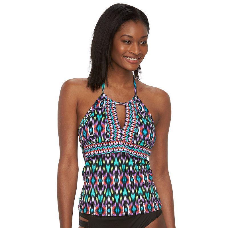Women's Apt. 9® Ikat High-Neck Halterkini Top