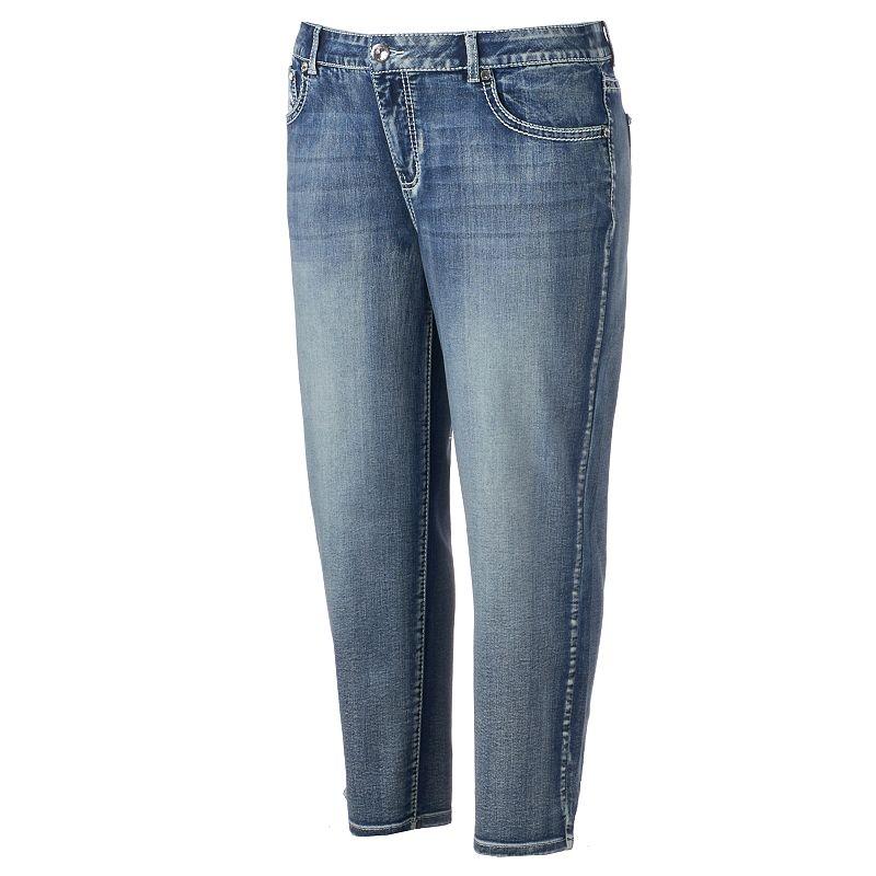 Plus Size Apt. 9® Embellished Cuffed Jean Capris