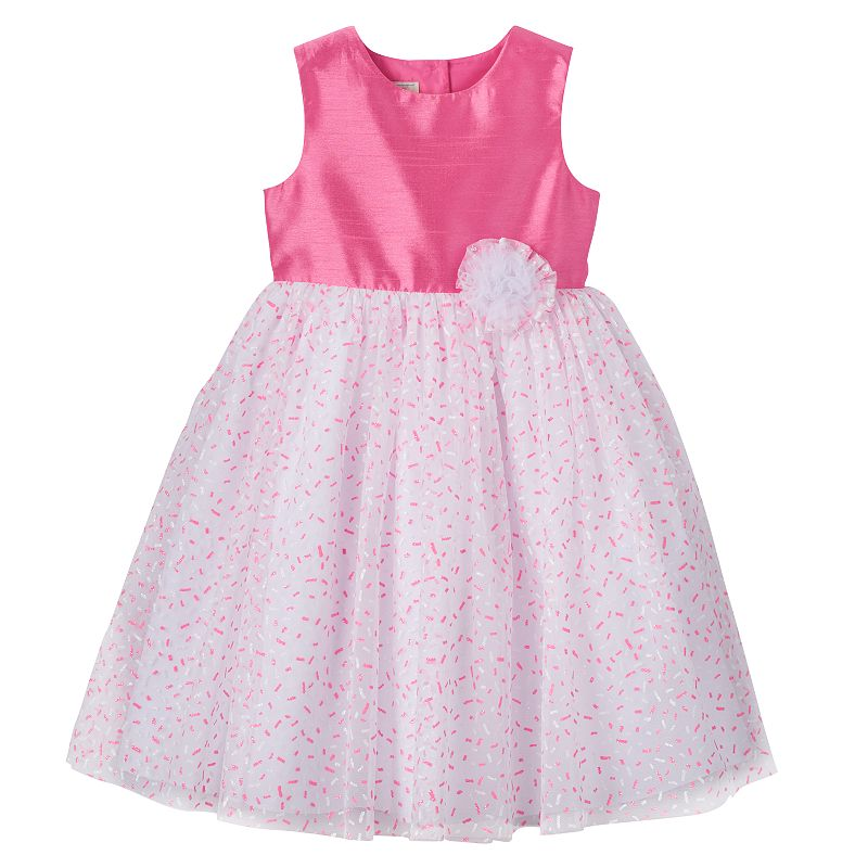 Toddler Girl Marmellata Classics Glitter Sprinkle Shantung Dress
