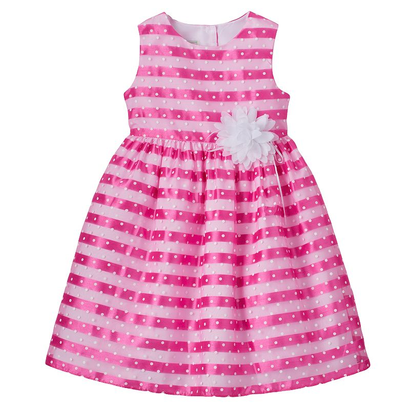 Toddler Girl Marmellata Classics Striped Polka-Dot Dress