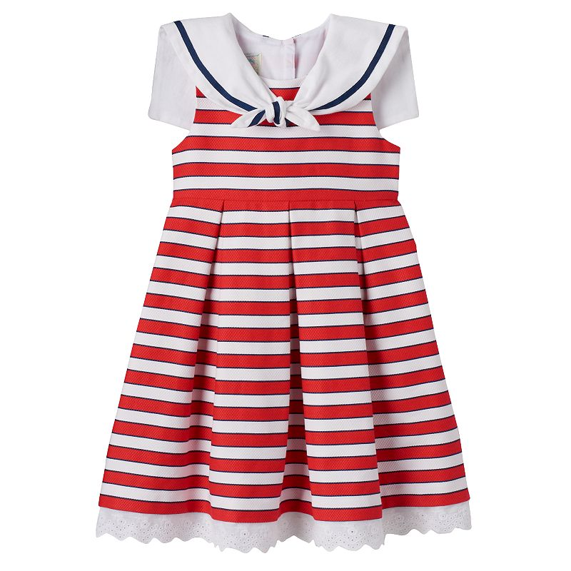 Baby Girl Marmellata Classics Nautical Stripe Dress