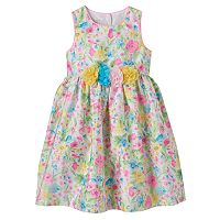 Toddler Girl Marmellata Classics Floral Shantung Dress