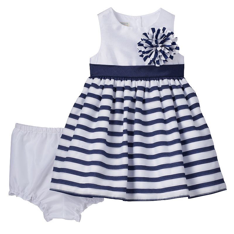 Baby Girl Marmellata Classics Stripe Dress