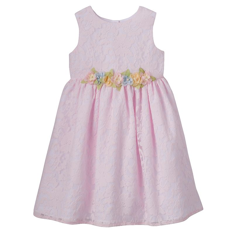 Baby Girl Marmellata Classics Floral Lace Organza Dress