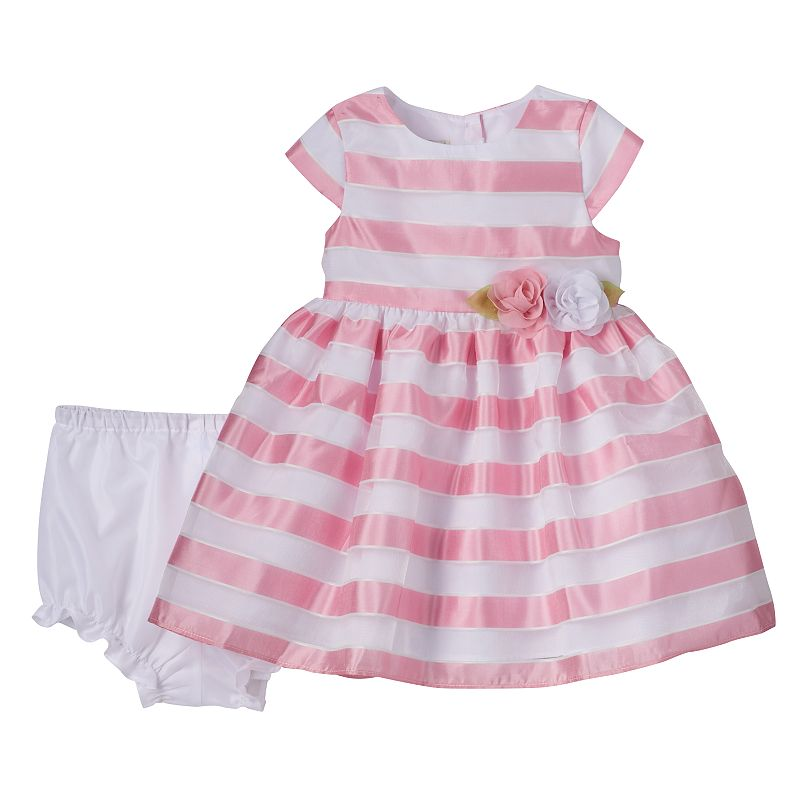 Baby Girl Marmellata Classics Sheer Stripe Dress