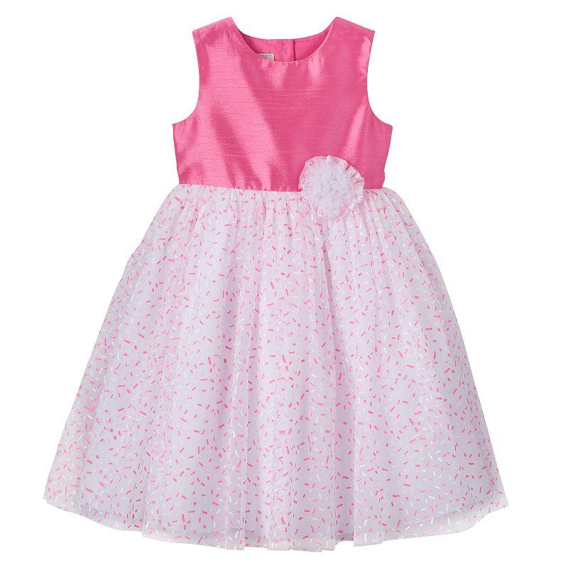 Baby Girl Marmellata Classics Glitter Sprinkle Shantung Dress