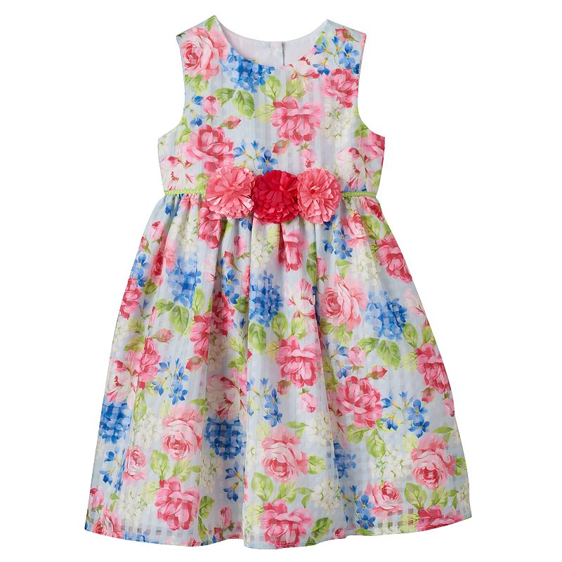 Baby Girl Marmellata Classics Floral Checkered Dress