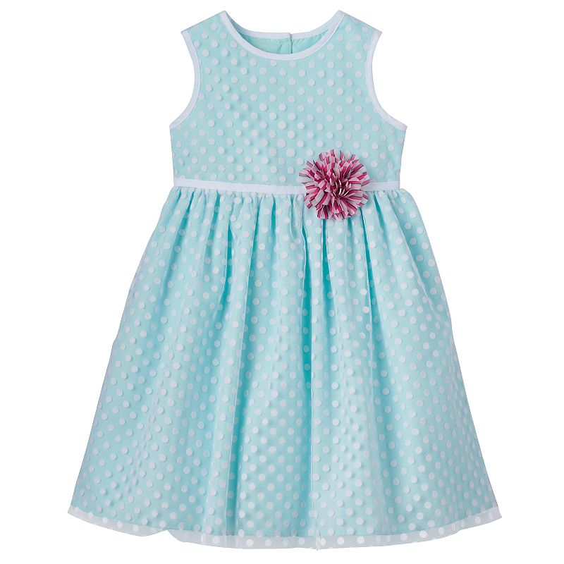 Baby Girl Marmellata Classics Flocked Polka-Dot Dress