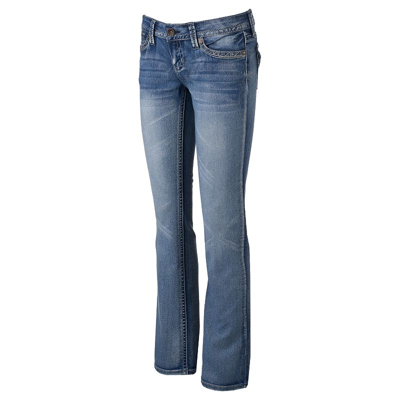 Juniors' Hydraulic Bailey Slim Bootcut Jeans